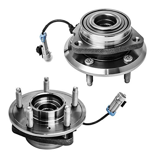 Front Wheel Hub and Bearing Assembly Left or Right Compatible Chevrolet Captiva Sport Equinox Pontiac Torrent Saturn Vue Suzuki XL7 AUQDD 513276 x2 (Pair) [ 5 Lug W/ABS ]