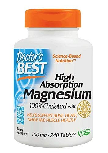 Doctor's Best, High Absorption Magnesium, 100 mg, 240 vegan Tablets, soy-free, gluten-free