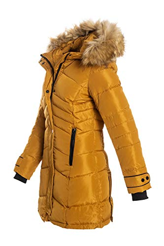 Elara Damen Winterjacke Gelb Chunkyrayan H-G906 Yellow-44 (2XL)