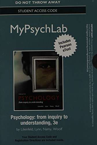 MyPsychLab with Pearson eText Standalone Access Card for Psychology: From Inquiry to Understanding