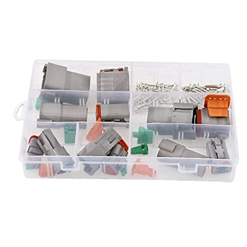 EElabper Enchufe del Conector de Alambre eléctrico 2 3 4 6 8 12 Pin para el camión automático 6 Sets