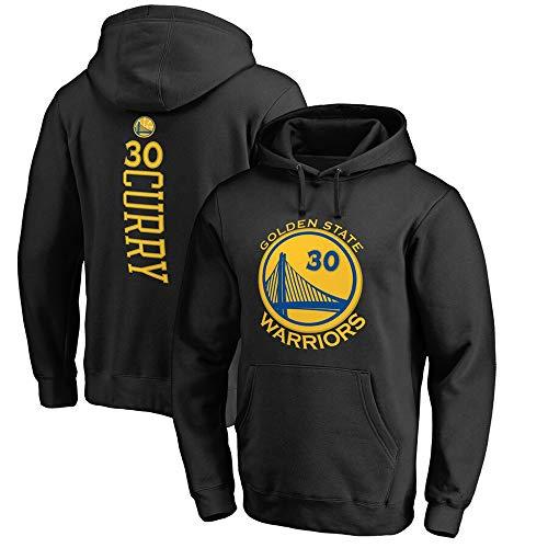 Sudadera con Capucha para Hombre De La NBA Golden State Warriors 30# Stephen Curry Fans De Baloncesto Camiseta De Entrenamiento Uniforme Tops Sudadera Deportiva,Negro,S