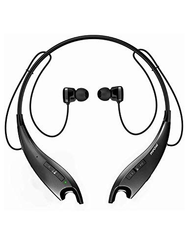 Mpow Jaws Upgraded Gen-3 Bluetooth Headphones for Work from Home, Wireless Neckband Headphones 13H Playtime, Bluetooth Headset W/Call Vibrate & CVC 6.0 Noise Cancelling Mic, Magnetic Earbuds, Black