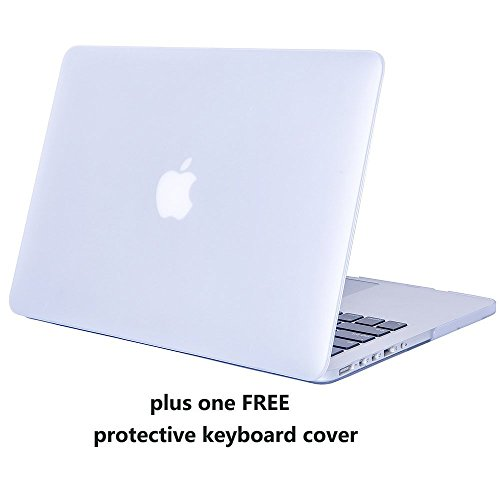 MacBook Pro 15 Retina Case Cover – Treasure21 Slim fit Smart Protection Soft Rubber Coating Smooth Better Grip Hard case Shell Cover for MacBook Pro 15 Retina A1398 (Frost Clear)