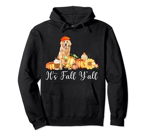It's Fall Y'all Funny Dog Lover Labrador Regalo Otoño Calabaza Sudadera con Capucha