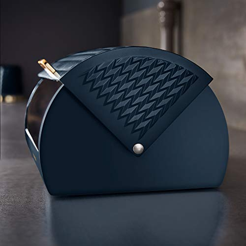 Tower Empire Bread Bin - Midnight Blue and Brass