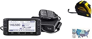 Bundle - 3 Items - Includes Icom ID-5100A-Deluxe Dualband Mobile w/ D-STAR/GPS with the New Radiowavz Antenna Tape (2m - 30m) and HAM Guides Quick Reference Card