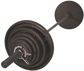 USA Sports Olympic Black Weight Set Black Bar - 300 Pounds
