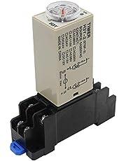 heschen Timer delay relay h3y-2 24 VDC 5 seconden 250 VAC 5 A 8 pin terminal DPDT met DYF08 35 mm DIN rail basis