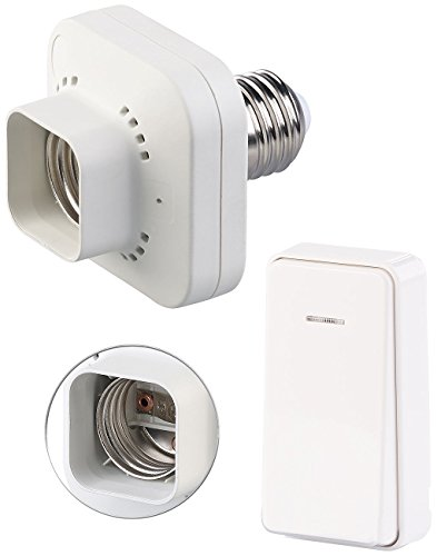CASAcontrol Kinetischer Schalter: E27-Lampenfassung mit kinetischem Funk-Taster (kompakt), bis 60 Watt (Lampenfassung mit Schalter)