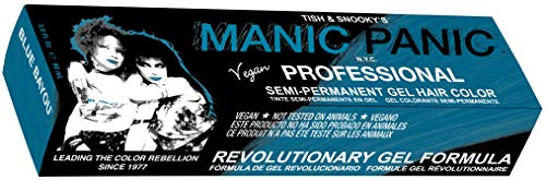 Manic Panic Professional Color Blue Bayou - Medium Neon Turquoise Semi Permanent Gel Hair Dye - Glows Under Black Light - Lasts Through 40+ Washes - No Developer Required (3oz)