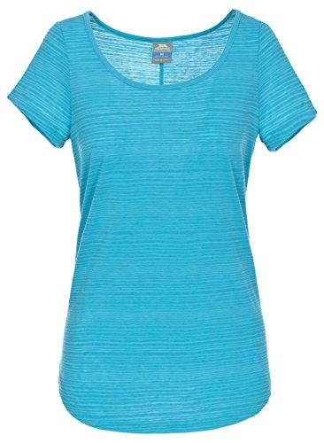Trespass Brea T-Shirt à Manches Courtes Femme, Bleu, FR (Taille Fabricant : XXS)