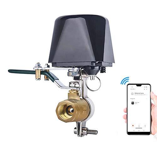 Wifi Smart Valvola Control Acqua/Gas, KKmoon Valvola di Controllo Automazione per Regolatore Acqua Gas 4 Punti 1/2 Valve, Arresto dell'Acqua Wireless Distanza 30 m (Aperto),Tuya APP, 12 V/1 A