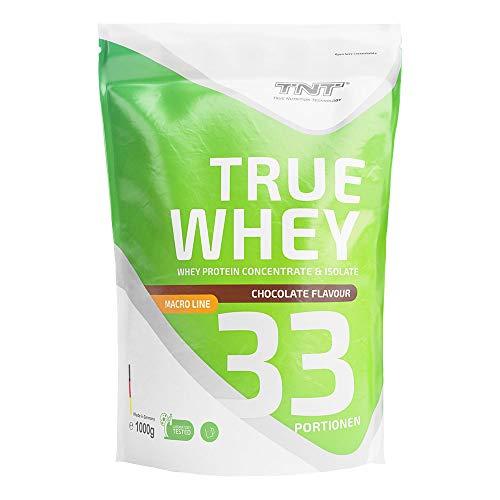 True Whey – 1kg Whey Protein Isolate Pulver – Eiweißpulver aus Molke – Proteinpulver, Eiweiß-Shake (Chocolate)