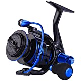 Sougayilang Spinning Reels Ultra-Weight, 6.2: 1 High Speed ​​Gear Ratio, Metal Frame and Rotor, 12 + 1 Shielded BB, Smooth Powerful Freshwater and Saltwater Spinning Fishing Reel(SD-4000-Blue)