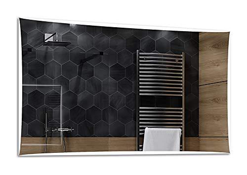 ALASTA® Miroir   Moderne Miroir Salle Bain   170x100cm   Lisbona   Nouvelle Génération Miroir avec Accessoires   Blanc Froid/Chaud en Option