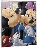 Mickey Mouse Minnie Cartoon Duschvorhang Badezimmer Dekor Exquisite Schimmelresistent Wasserdicht Extra Lang Badvorhang mit 12 Haken