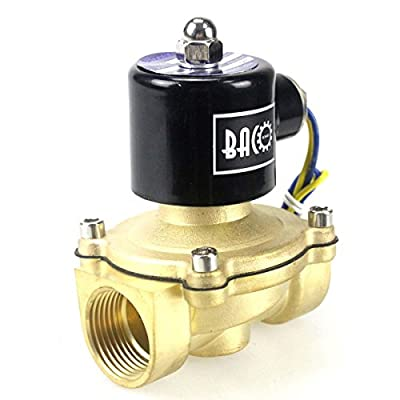 "BACOENG 1"" DC12V Electric Solenoid Valve (NPT, Brass, Normally Closed) from Baco Engineering"
