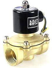 """BACOENG AC 220V 1"""" válvula de solenoide eléctrica latón Solenoid Valve para agua aire aceite NC"""