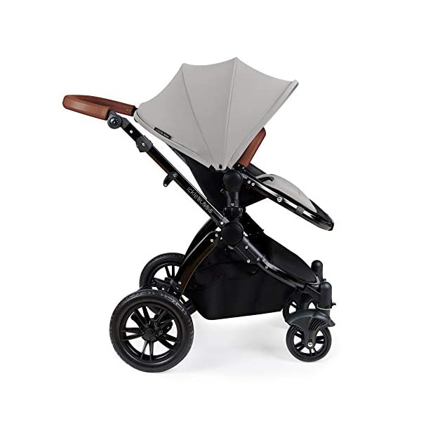 Ickle Bubba Stomp V3 2-in-1 Stroller System | Carrycot & Pushchair | Silver on Black Frame Ickle Bubba TWO-IN-ONE TRAVEL SYSTEM: Features carrycot and reversible pushchair. Pushchair suitable from 6 months to 22kgs (approx. 4 years old) – forward & rear facing option ADJUSTABLE HANDLEBAR: 5-position handlebar is comfortable for parents of varying heights. DELUXE FOAM TYRES: allows for a smooth ride, easy press and release single step foot brake locking system 2