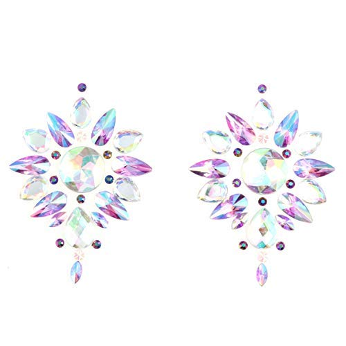 VALICLUD Empanadas de Cristal Diamantes de Imitación Brillantes Cubierta sin Pinzas Pegatinas...