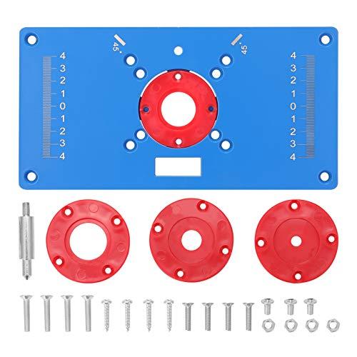 KKmoon Router Platte Flip Board Fräs und Schlitzwerkzeug Trimmmaschine Holzbearbeitungswerkzeug Frästisch Tischplatte mit 4 Ringen
