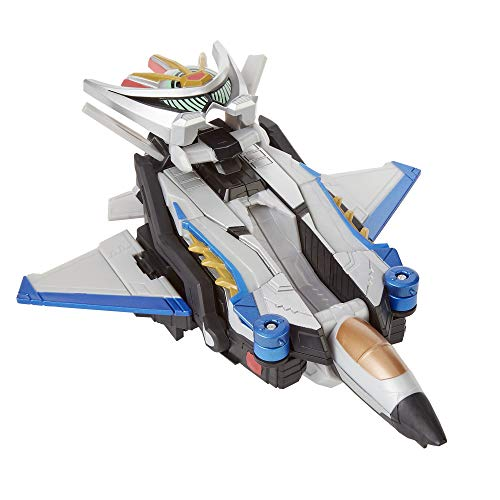 Power Rangers Beast Morphers - Figurine Robot Zord du Ranger Argent Convertible en Beast-Jet et en Mode Scarabée – 15 cm - Transformable - Jouet