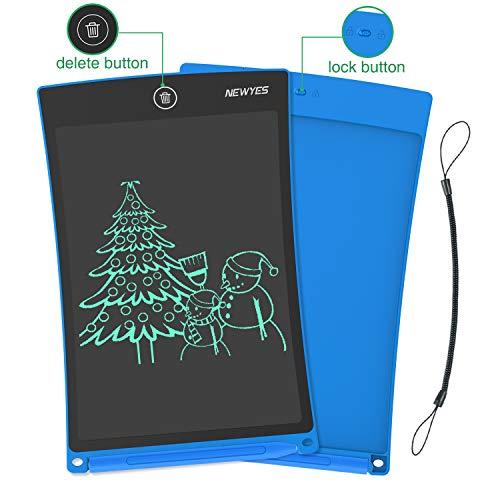 NEWYES NYWT850 Tablette d'Ecriture LCD, 8,5 Pouces de Longueur - Différentes Couleurs(Bleu)