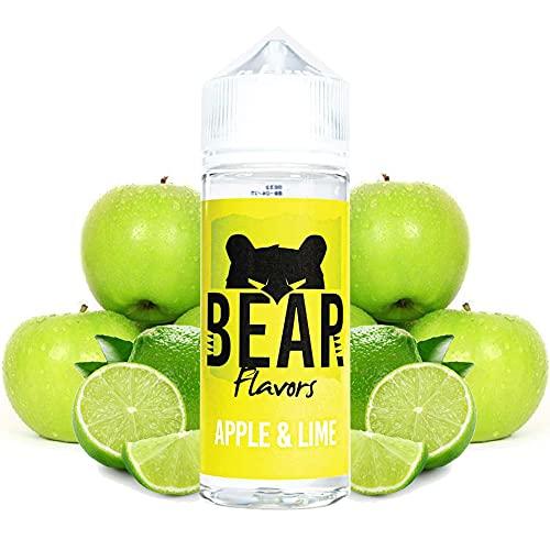 BEAR Flavors - Apple Lime   100ML   Sin Nicotina: 0mg   70VG/30PG   E-Liquido para Cigarrillos Electronicos   Vaper   E Cigarette   E Shisha
