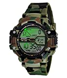 ✔ Band Material : Pure Rubber & Plastic, Color : Army Colour ✔ Movement : Digital Automatic, Clasp: Buckle ✔ Display Type : Analogue, Color : Green Digital Light ✔ Army watch for men digital black dial army stylish strap watch for boys kids sports wa...