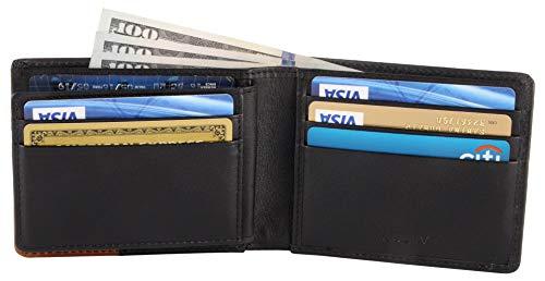 RFID Blocking Bifold Leather Wallet