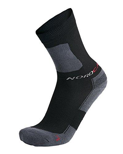 Nordcap Allround-Sportsocken kurz in Schwarz, 6er Pack Sport-Socken, atmungsaktive Strümpfe, unisex Wandersocken, Gr. 35 – 46, Menge: 6 Stück