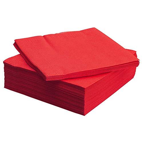 IKEA FANTASTISK - servilleta de papel, rojo / 50 Pack - 40x40 cm