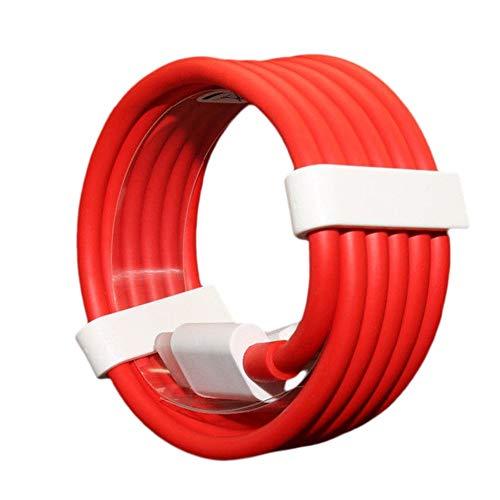 QiKun-Home Portátil Original 5V / 4A Dash Charge Type-C Cable Adaptador de Corriente de Viaje Cable de Datos Cargador USB-C para teléfonos móviles OnePlus Rojo