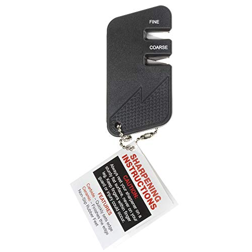 Wusthof Black Plastic Keychain Manual Knife Sharpener - 2 1/2'L x 2 1/2'W x 1'H