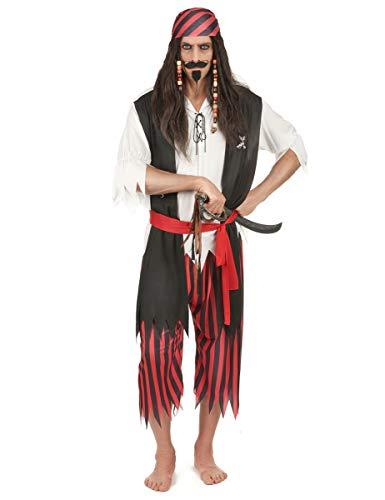 Disfraz de pirata para hombre, XL.