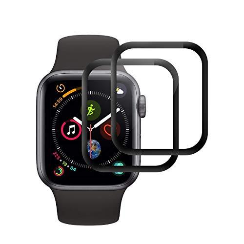 Cristal Templado para Apple Watch Series 5 / Series 4 44mm, [2 Unidades] [2.5d Borde] [9H Dureza] [Sin Burbujas] Vidrio Templado Premium Protector de Pantalla para Apple Watch Series 5 / Series 4 44mm