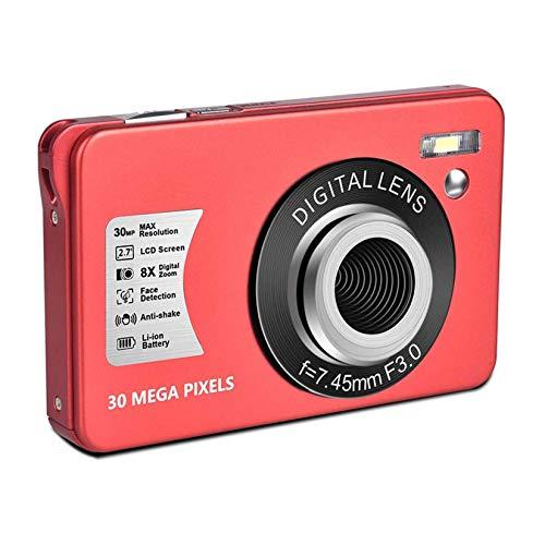 LORIEL Fotocamera Digitale da 2,7 Pollici, Fotocamere Compatte da 30 MP   1080P, con Zoom Digitale 8X, per Adulti Adolescenti Viaggio Picnic Festa,Rosa