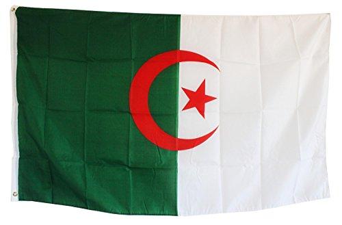 Creation Gross Fahne Flagge Algerien 0,90m x 1,50m mit Metallösen zum Aufhängen (0520644)