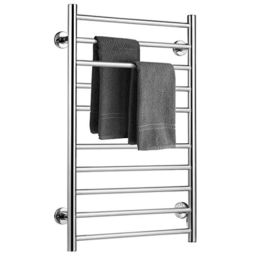Best Prices! Tangkula Towel Warmer, Free Standing & Wall Mounted Stainless Steel Towel Heater for Ho...