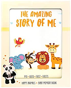 KiddosArt Baby Memory Book Keepsake Journal Scrapbook Photo Album Record Your Girl or Boy Memories and Milestones of The First 5 Years on 72 Beautiful Pages 12 Monthly Stickers Included.