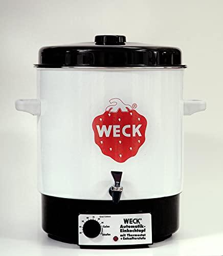 Weck Einkochautomat WAT 14A (Einkochtopf / Einwecktopf mit Auslaufhahn, 35 cm, 230 V, 2000 W, 29 L) 6829