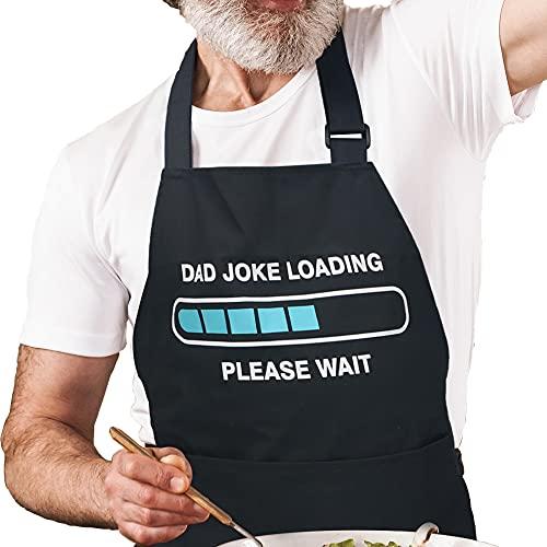 Funny Aprons For Men - Grilling Gifts For Men - BBQ Apron For Men - Grilling Aprons For Men - Cooking Aprons For Men - Mens Kitchen Apron - Aprons For Men With Pockets - Chef Apron For Men