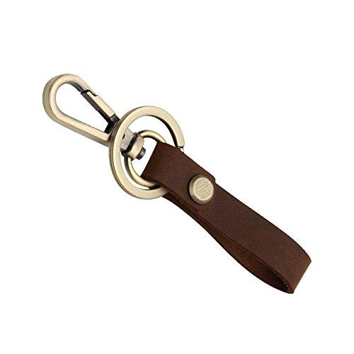 Pinzhi Porte-clés avec boucle de ceinture en cuir amovible (marron)