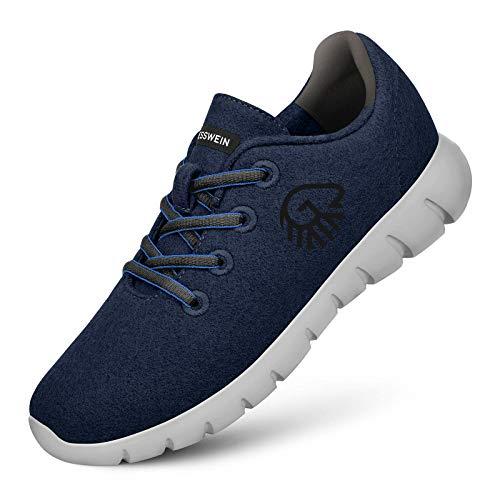 Giesswein GIESSWEIN Herren Woll-Sneaker Merino Runners, Dk.blau, 43 EU