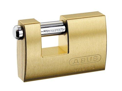 Abus - 82/70 70mm Monoblock Brass Shutter Vorhängeschloss Carded - ABU8270C
