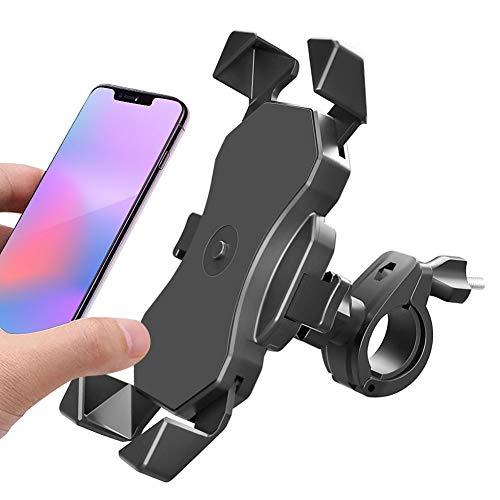 Handyhalterung Fahrrad, EIN-klick Sperre Motorrad Scooter Fahrrad Universal Smartphone Handyhalter 360° Drehbarer - Edelstahl Fahrrad Halter für Phone 11Pro, Xs Max, XR,X,8, 7,6S, Für 4-6,5 Zoll
