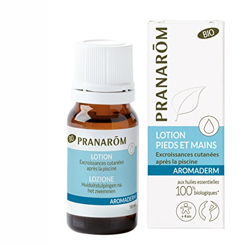 Pranarôm | Aromaderm | Lotion Pieds Et Mains Bio (Eco) | Excroissances Cutanées | Aux Huiles Essentielles Biologiques | 10 ml