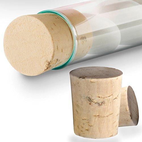 Tuuters 100x Korken für Reagenzgläser | Naturkorken | 1te Qualität ✓ Lebensmittelgeeignet ✓ (22 x Ø 17 x 14)