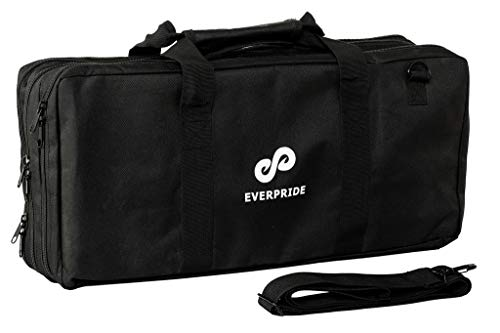 EVERPRIDE Chef Knife Bag Holds 20 Knives PLUS Large Zippered Compartment for Kitchen Tools